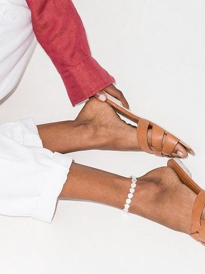 White Astral pearl anklet