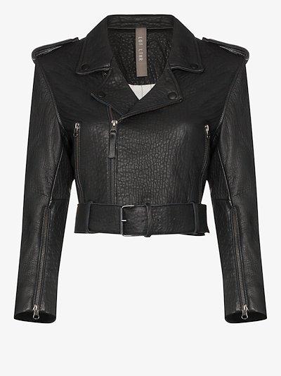 Lola leather biker jacket