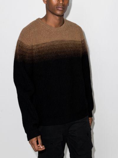 Ombré Crew Neck Sweater