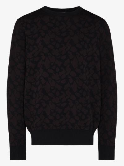 tonal jacquard sweater