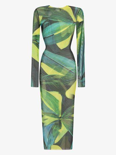 High Tide floral mesh midi dress