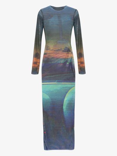 High Tide Mesh Midi Dress