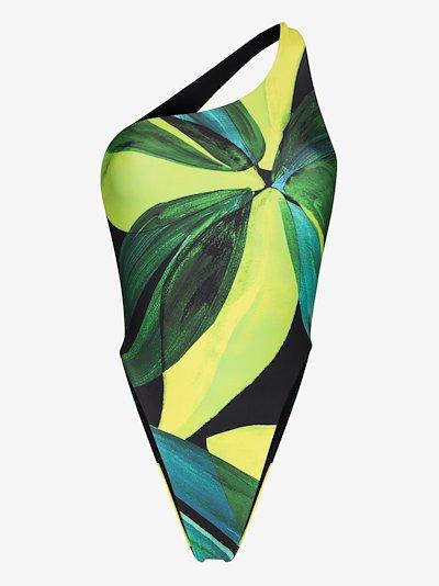 Plunge floral print swimsuit