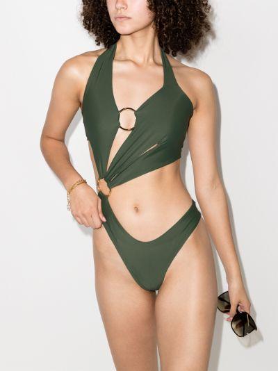 Sex Wax Cutout Halterneck Swimsuit