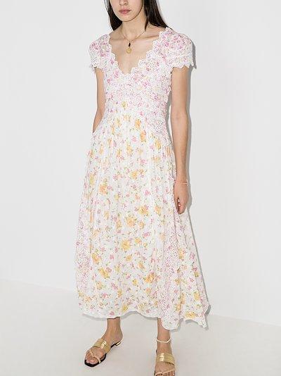 Archer floral print midi dress