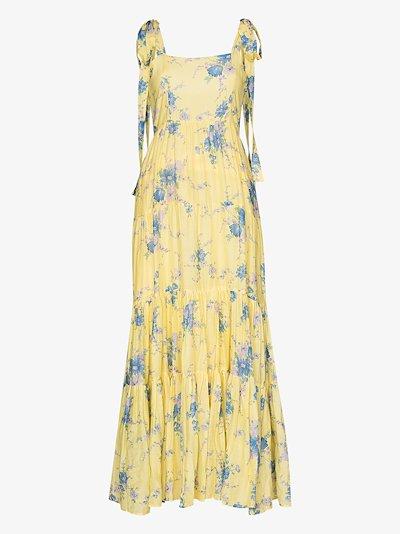Burrows floral maxi dress