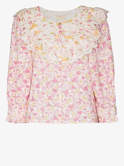 canna floral print blouse