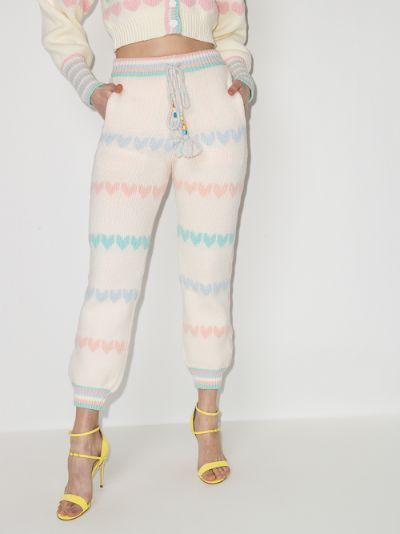 Chabela Heart Intarsia Track Pants