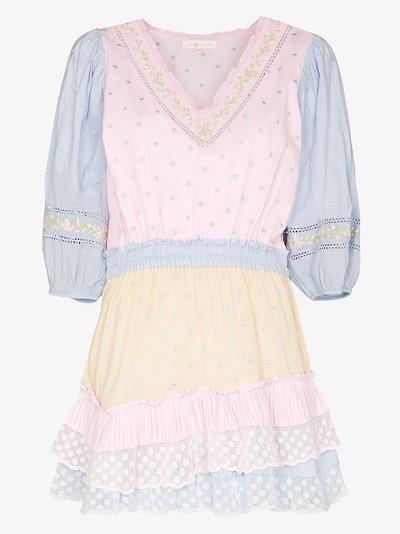 Consuela puff sleeve pastel mini dress