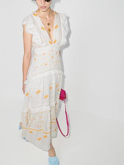 Cortland embroidered cotton maxi dress