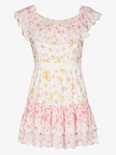 Denver printed cotton mini dress