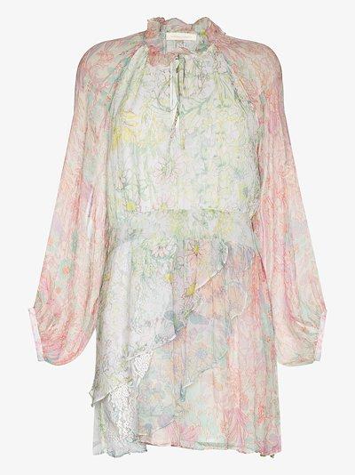 Glass floral print dress