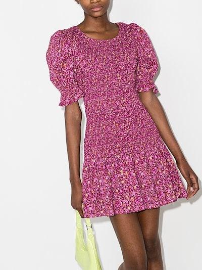 Luppa smocked floral print dress