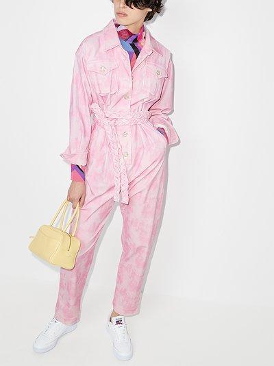 Morellia tie-dye corduroy jumpsuit
