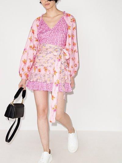 Rina Floral Print Mini Dress