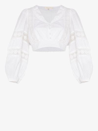 Salida cropped cotton blouse