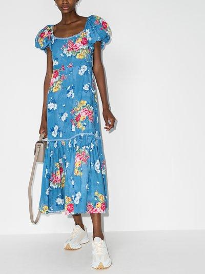 Salma floral cotton maxi dress