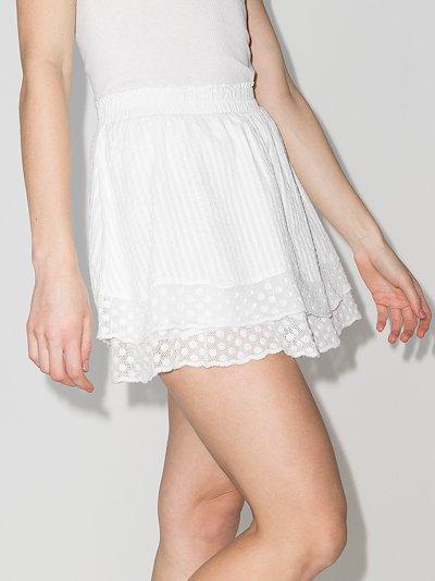 Toya ruffle lace trim mini skirt