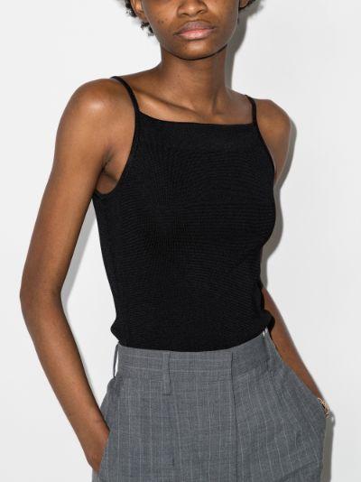square neck knit bodysuit