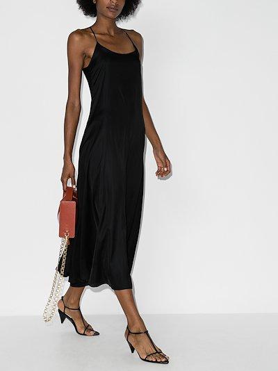flared slip dress