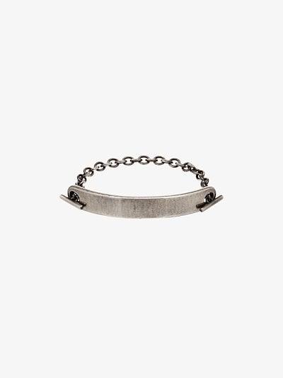 Sterling silver ID bar chain bracelet