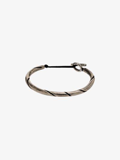 Sterling silver spiral bracelet
