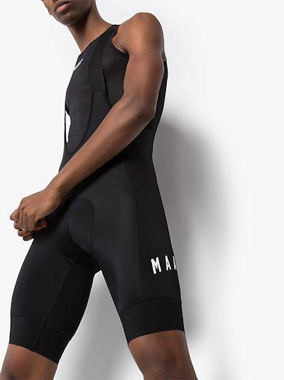 Black Team Bib 3.0 one-piece cycling shorts