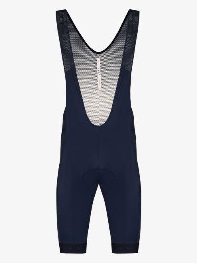 blue training bib cycling shorts