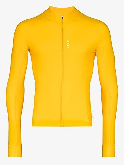 yellow long sleeve training jersey top