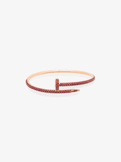 customised pre-owned 18K rose gold Cartier Juste un Clou bracelet