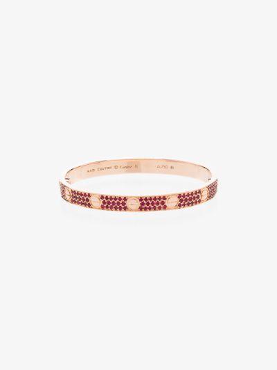 Customised pre-owned 18K rose gold Cartier Love bracelet