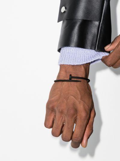 customised pre-owned 18K white gold Cartier Juste Un Clou bracelet