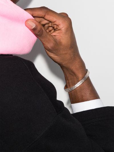 customised pre-owned 18K white gold Cartier Love bracelet