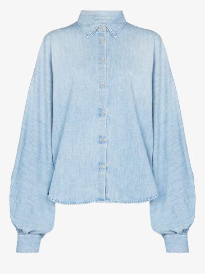 Claire denim puff sleeve shirt