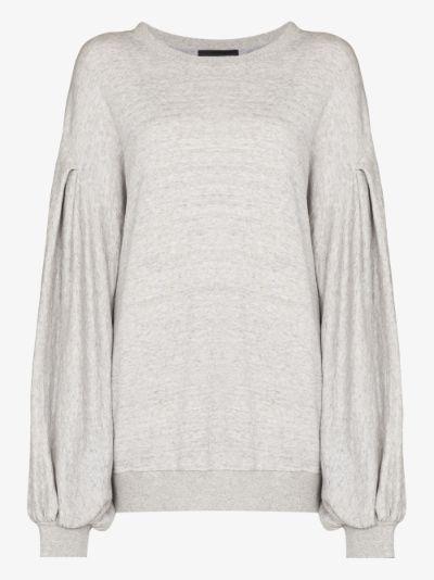 Kyla pleated sleeve sweatshirt
