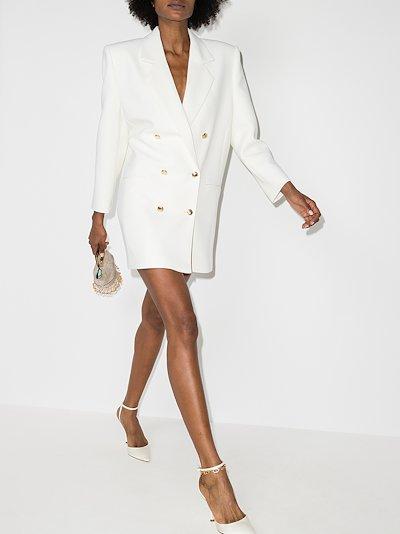 Double-breasted wool blazer dress