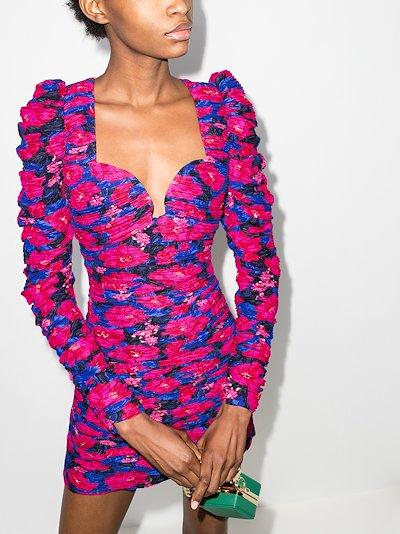 floral print bustier mini dress