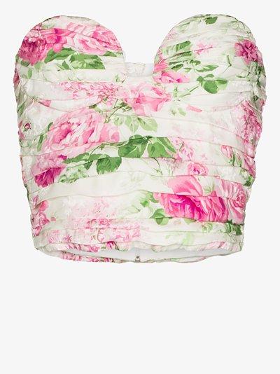 floral print bustier top
