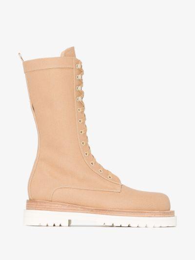 Neutral urban jungle combat boots