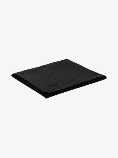 black Pure cotton poplin king duvet cover