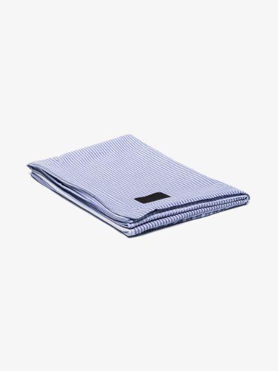 blue Wall Street Oxford cotton single duvet cover