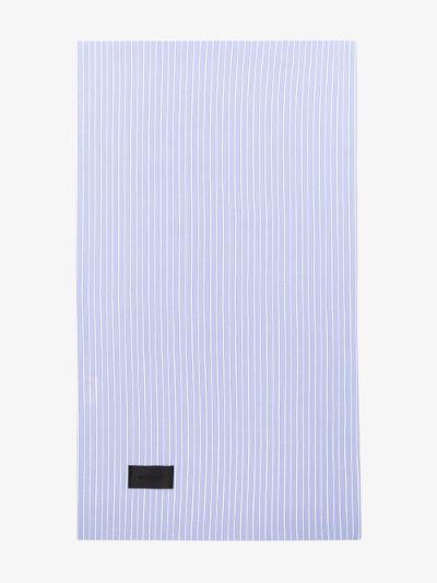 Blue Wall Street Striped Oxford Cotton Pillowcase