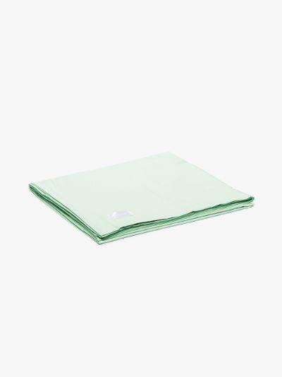 green Pure cotton poplin king duvet cover