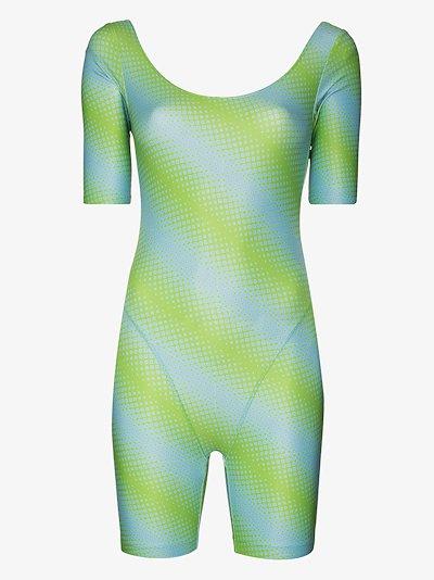 diagonal print bodysuit
