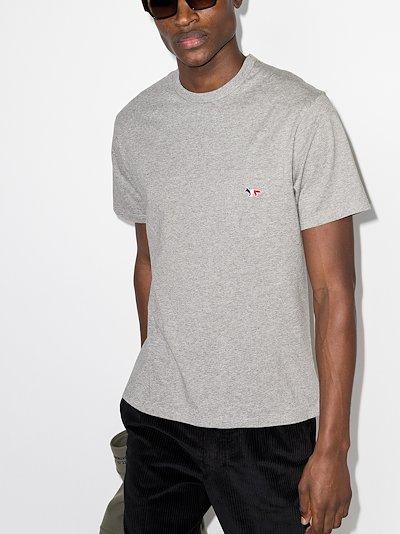 tricolour fox patch pocket T-shirt