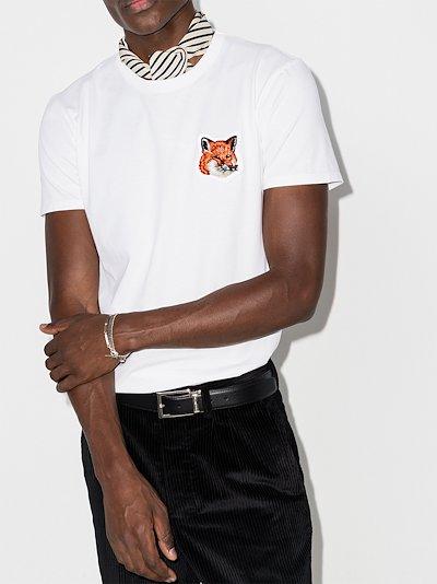 velvet fox head patch T-shirt