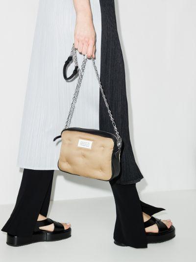 black and beige Glam Slam camera bag