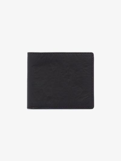 black four-stitch bifold wallet