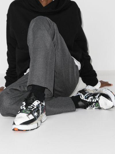 black Fusion low top sneakers