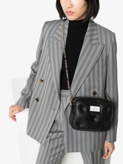 black Glam Slam leather camera bag